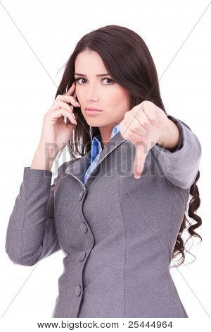 Business Woman With Thumb Down