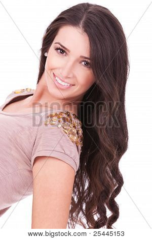 Big Smile And Long Beautiful Hair