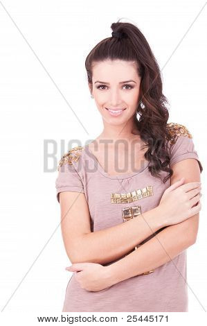 Young Woman Casual Portrait In Positive View