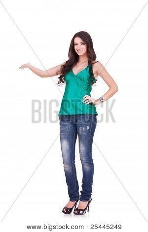 Cute Female Student Presenting