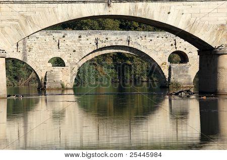 Ancient Bridge Pont Vieux In Beziers