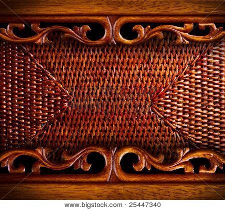Rattan-Möbel-Detail.Abstract-Hintergrund