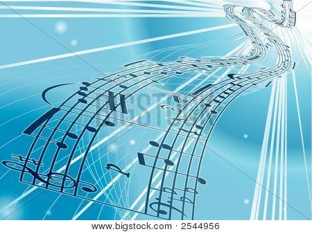Vector Sheet Music Background