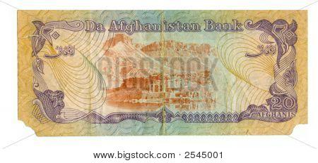 20 Afghani Bill Of Afghanistan