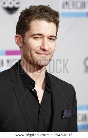 LOS ANGELES - NOV 20: Matthew Morrison at the 2011 American Music Awards held at Nokia Theatre L.A. Live on November 20, 2011 in Los Angeles, California