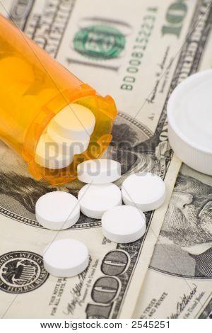 Medicine Pills And Dollar