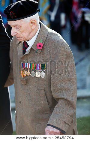 Elderly war veteran
