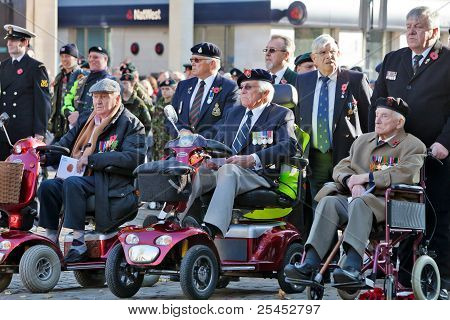 War veterans on Armistice day
