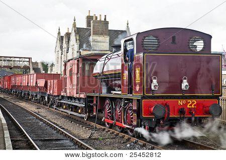 Industrial steam freight train