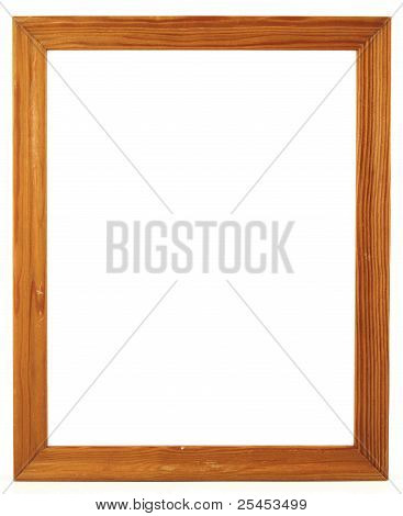 Wood Frame For A Picture, Isolated On White