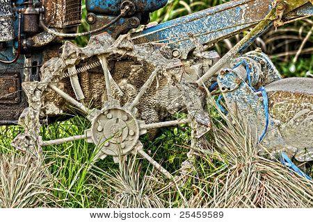 alte verlassene Traktor
