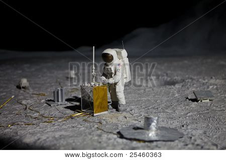 Astonaut On Moon