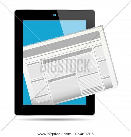 Newspaper And Tablet