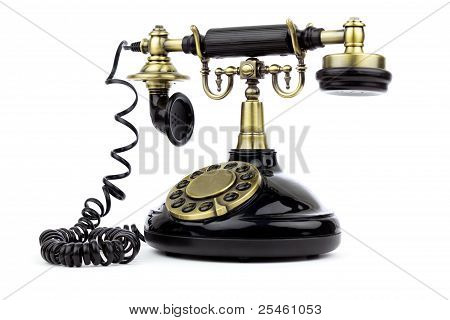 Old Vintage Black Phone