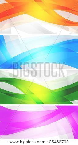 Set of vibrant banners. Eps 10