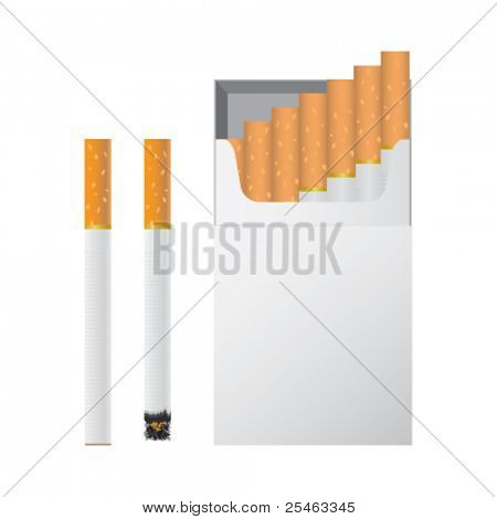 Vector illustration of cigarettes