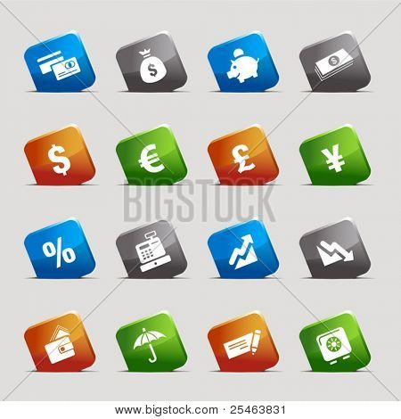 Cut Squares - Finance icons