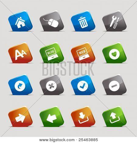 Corte quadrados - ícones web clássico