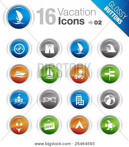 Botones brillante - los iconos de vacaciones