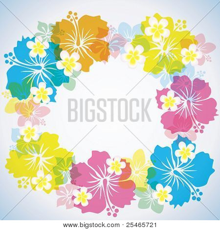Abstract Tropical background. Illustration vector.