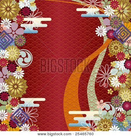 Japanischen traditionellen Hintergrund. Vektor.