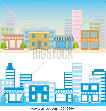 Street scene. Illustration vector.