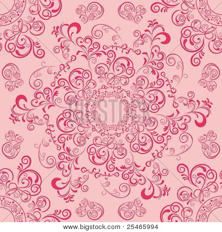 Abstract seamless mandala pattern. Illustration vector.