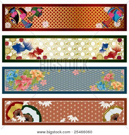 Japanische traditionelle Banner. Abbildung.