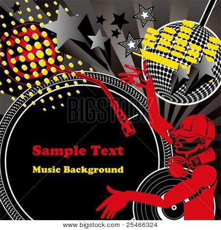 Music background. Illustration vector.