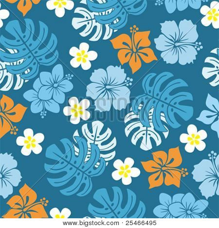 Seamless tropical pattern, Illustration vector.