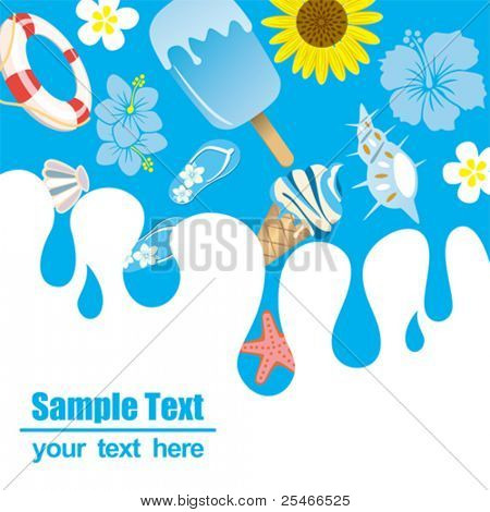 Summer background. Illustration vector