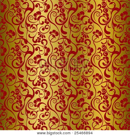 Asian seamless floral pattern