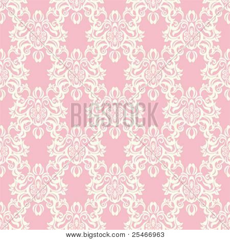 Seamless floral retro pattern. Illustration vector.
