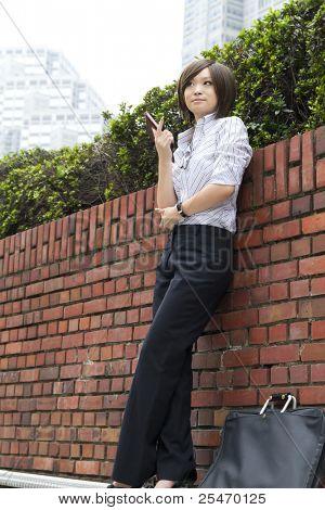 Beautiful asian business woman