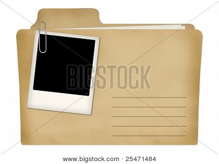 Old file with photo frame