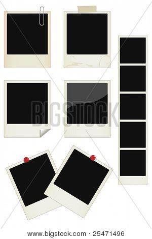 Conjunto de marcos de foto instantánea de Vector