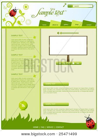 Editable web template,vector