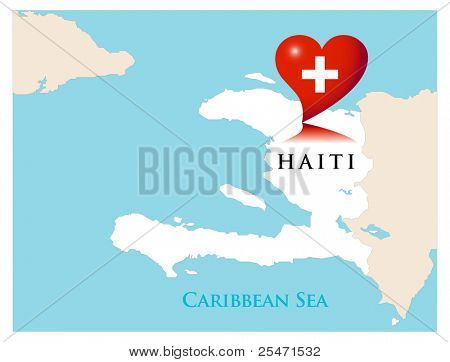 Help for Haiti,vector illustration