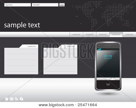 Clean and sophisticated modern layout, vector illustration