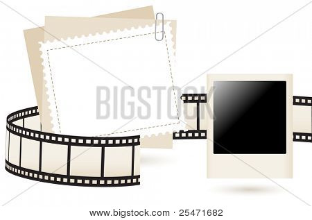 Photo frame, vector illustration