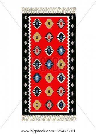 Bosnische traditionelle Teppich, Vektor-illustration