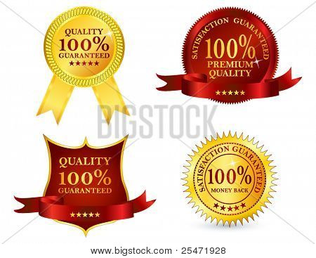 Quality labels, vector illustration