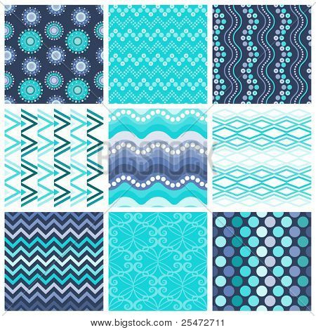Trendy Colorful Seamless Patterns,collection