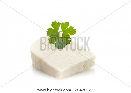 Goat cheese with fresh parsley