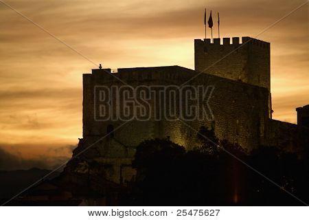 old medieval castle in San Vicente de la Barquera