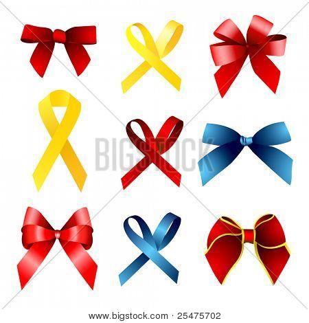 red gift, ribbon