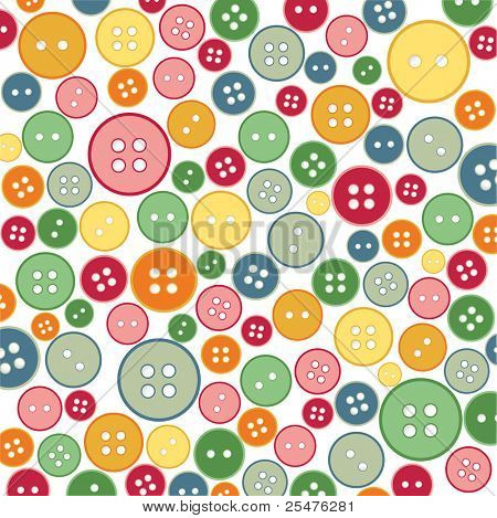 Seamless sewing buttons colorful pattern