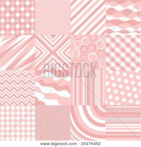 seamless pink patterns with fabric texture