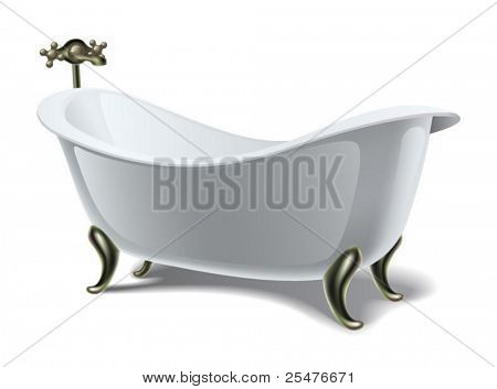 Bath on white (vector)