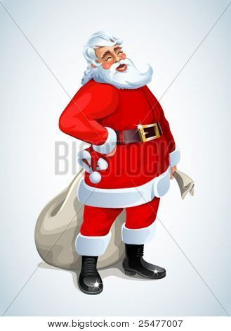 Santa Claus on white